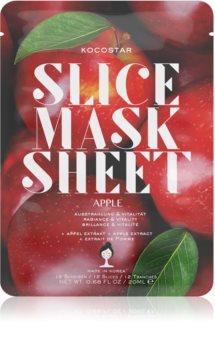 KOCOSTAR Slice Mask Sheet Apple vitalisierende textile Maske zum Aufhellen der Haut