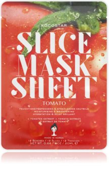 KOCOSTAR Slice Mask Sheet Tomato maschera in tessuto illuminante e idratante