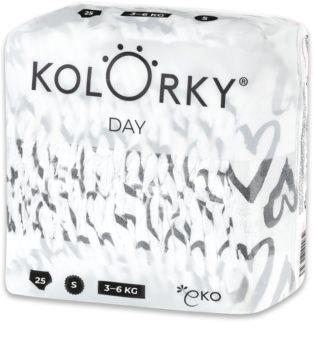Kolorky Day Hearts EKO pleny velikost S 3-6 Kg