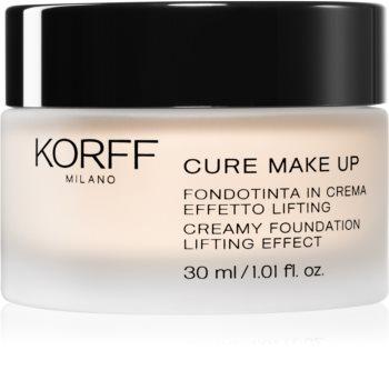 Korff Cure Makeup krémes make-up lifting hatással