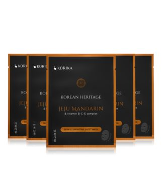 KORIKA Korean Heritage face mask set at a reduced price (with Brightening Effect)