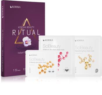 KORIKA Korean Beauty Ritual Instant Perfection комплект маски за лице