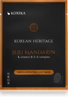 KORIKA Korean Heritage maska rozświetlająca w płacie