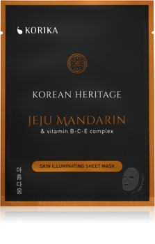 KORIKA Korean Heritage озаряваща платнена маска