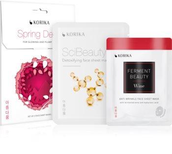 KORIKA Spring Detox Комплект детоксикираща и повдигаща маска за лице за жени