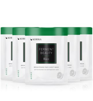 KORIKA FermentBeauty Rice and Hyaluronic Acid face mask set at a reduced price