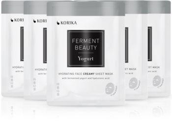 KORIKA FermentBeauty Yogurt and Hyaluronic Acid face mask set at a reduced price
