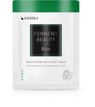 KORIKA FermentBeauty brightening face sheet mask with fermented rice and hyaluronic acid