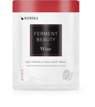 KORIKA FermentBeauty mască facială de pânză cu efect anti-rid, cu vin fermentat și acid hialuronic