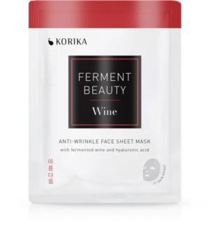 KORIKA FermentBeauty maska proti gubam iz platna s fermentiranim vinom in hialuronsko kislino