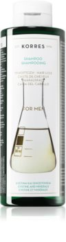 Korres Cystine & Minerals шампоан против косопад за мъже