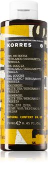 Korres White Tea, Bergamot & Freesia sprchový gél