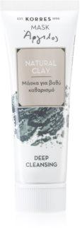 Korres Natural Clay masca pentru curatare profunda