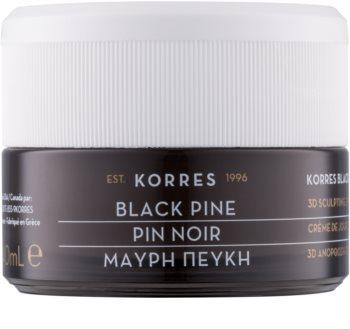 Korres Black Pine crema de día reafirmante con efecto lifting para pieles secas y muy secas