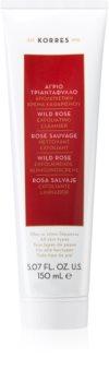 Korres Wild Rose crema detergente esfoliante