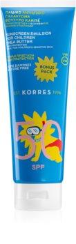 Korres Shea Butter emulsione abbronzante SPF 50
