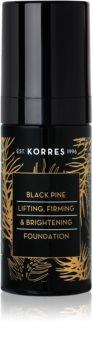 Korres Black Pine fond de teint liquide éclat effet raffermissant