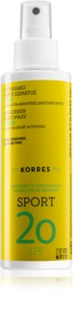 Korres Citrus Sport Öl-Spray für Bräunung SPF 20