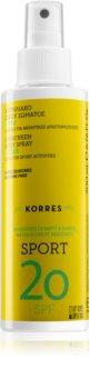 Korres Citrus Sport olio abbronzante in spray SPF 20