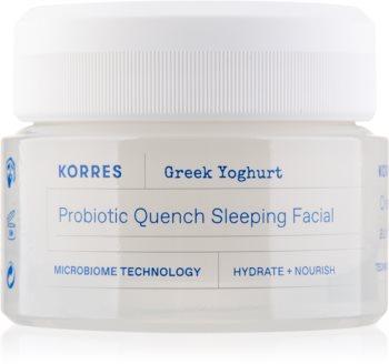 Korres Greek Yoghurt nährende Nachtcreme mit Probiotika