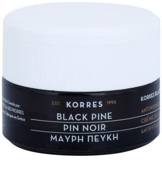 Korres Black Pine crema de día antiarrugas con efecto lifting para pieles secas y muy secas