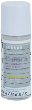 Korres Equisetum deodorante roll-on senza profumo 48 ore