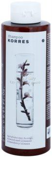 Korres Almond & Linseed champú para el cabello seco y dañado