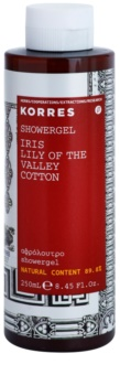 Korres Iris, Lilly of the Valley & Cotton gel de ducha para mujer 250 ml