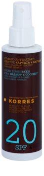 Korres Walnut & Coconut Clear Non-Greasy Body Sunscreen SPF 20
