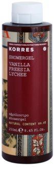 Korres Vanilla, Freesia & Lychee gel za prhanje za ženske