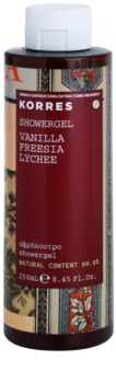 Korres Vanilla, Freesia & Lychee sprchový gél pre ženy