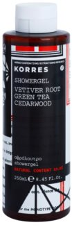 Korres Vetiver Root, Green Tea & Cedarwood gel de douche pour homme