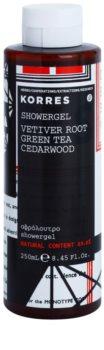 Korres Vetiver Root, Green Tea & Cedarwood gel doccia per uomo