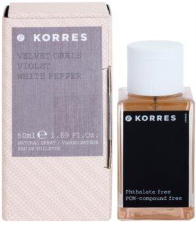Korres Velvet Orris, Violet & White Pepper toaletní voda pro ženy