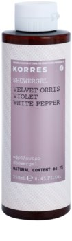 Korres Velvet Orris, Violet & White Pepper gel de ducha para mujer 250 ml