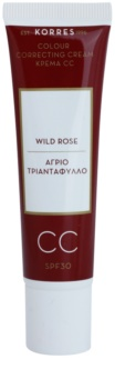 Korres Wild Rose aufhellende CC-Creme SPF 30