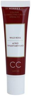 Korres Wild Rose CC creme iluminador SPF 30