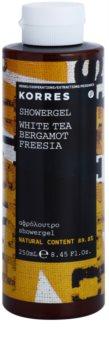 Korres White Tea, Bergamot & Freesia gel za prhanje uniseks