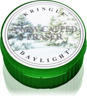 Kringle Candle Snow Capped Fraser tealight candle