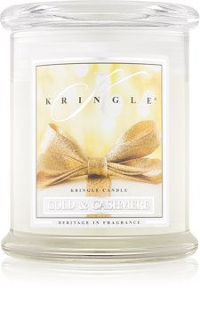 Kringle Candle Gold & Cashmere ароматическая свеча