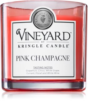 Kringle Candle Vineyard Pink Sparkling Wine scented candle