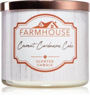 Kringle Candle Farmhouse  Coconut Cardamom Cake scented candle