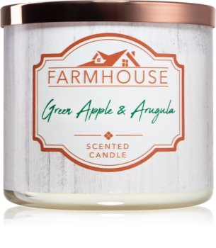 Kringle Candle Farmhouse Green Apple & Argula scented candle
