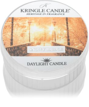 Kringle Candle Snowy Bridge tealight candle