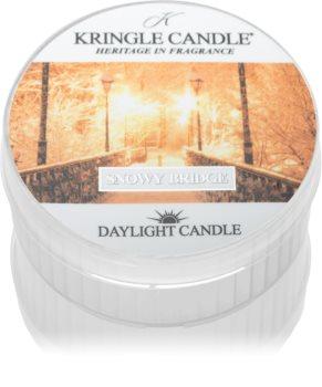 Kringle Candle Snowy Bridge teamécses