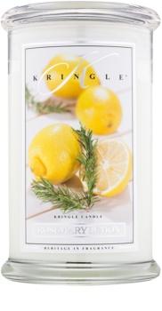 Kringle Candle Rosemary Lemon scented candle