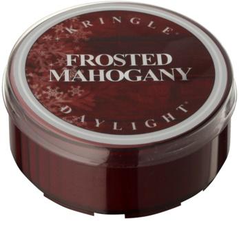 Kringle Candle Frosted Mahogany čajová svíčka