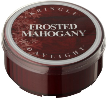Kringle Candle Frosted Mahogany tealight candle