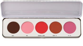 Kryolan Basic Face & Body Blusher Palette, 5 Shades