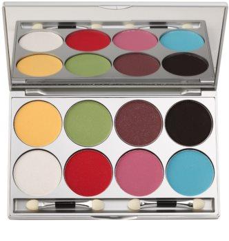 Kryolan Basic Eyes paleta de sombras de ojos con purpurina 8 colores
